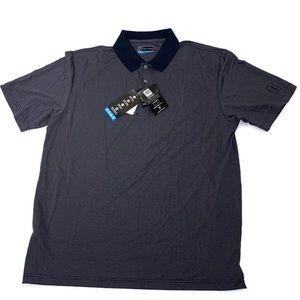 PGA Tour Golf Polo Shirt Motionflux Navy and White